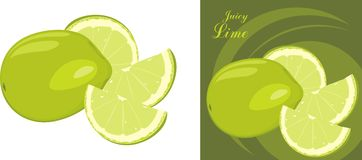 Juice lime. Icon for design Stock Photos