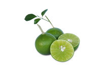 Juice lime on white Royalty Free Stock Image