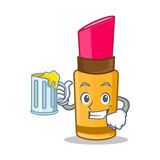 With juice lipstick character cartoon style Stock Image