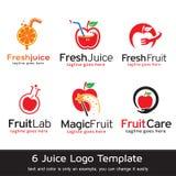 Juice Logo Template Design Vector Royaltyfri Bild
