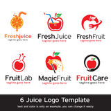 Juice Logo Template Design Vector Vektor Illustrationer