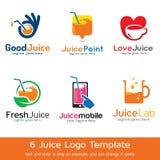Juice Logo Template Design Vector Fotografie Stock