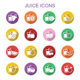Juice long shadow icons Royalty Free Stock Photos