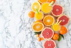 Juice made from fresh citrus fruits Stock Photos