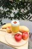Juice or mango juice or mango smoothie royalty free stock photos