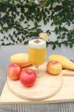 Juice or mango juice or mango smoothie stock photo