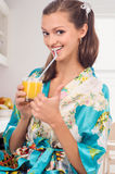Juice at the morning Royalty Free Stock Photos