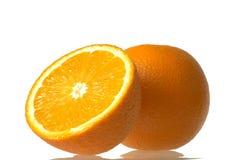 Juice orange. Isolated over white Royalty Free Stock Photography