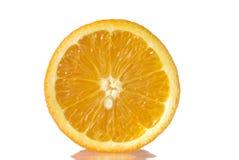 Juice orange. Isolated over white Stock Photo