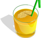 Juice, Orange, Fruits, Straw, Green Royalty Free Stock Photos