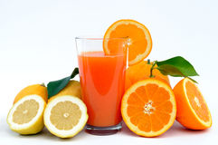 Juice of oranges and lemons Stock Photos