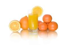 Juice of oranges and tangerine Royalty Free Stock Photo