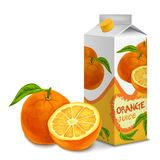 Juice pack orange Royalty Free Stock Image