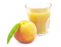 Juice peach Royalty Free Stock Images