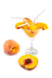 Juice from peaches Royalty Free Stock Photo