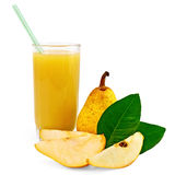 Juice pear with pear Stock Image