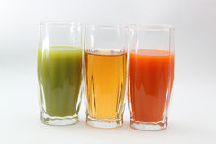 Juice. On a photo three glasses with juice Royalty Free Stock Image