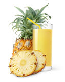 juice pineapple royaltyfri fotografi