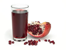 Juice and pomegranate fruits Stock Images