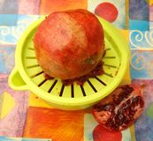 Juice of pomegranate Stock Image