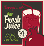 Juice pomegranate Royalty Free Stock Photos