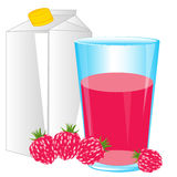 Juice from raspberry Royalty Free Stock Image