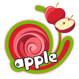 Juice Red Apple. Royalty Free Stock Photo