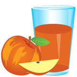 Juice from red apple royalty free illustration