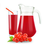 Juice of red currants Stock Photo