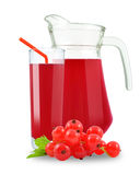Juice of red currants Stock Image