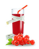 Juice of red currants and meter Royalty Free Stock Images
