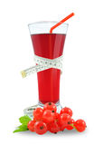Juice of red currants Stock Images