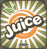 Juice retro tin sign design Royalty Free Stock Photo