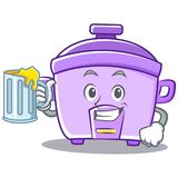 With juice rice cooker character cartoon Stock Photo