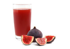Juice with ripe figs Stock Image