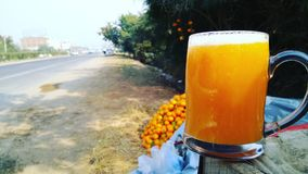 Juice on the road. Roadside juice chandigarh royalty free stock image