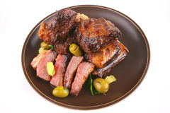 Juice roast rib's close up Stock Photo