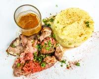 Juice roasted lamb chops Stock Image