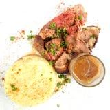 Juice roasted lamb chops Royalty Free Stock Images