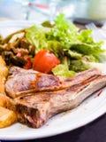 Juice roasted lamb chops Stock Photography