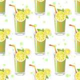 Juice seamless pattern Royalty Free Stock Photo
