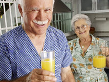 Juice senior. Stock Image