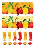 Juice set Stock Images
