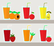 Juice set, vector Stock Images