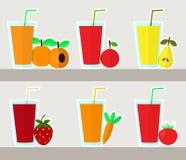 Juice set, vector Stock Images