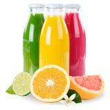 Juice smoothie orange fruit fruits smoothies in bottle square is stock photos
