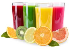 Juice smoothie smoothies in glass fruits oranges isolated on white. Juice smoothie smoothies in glass fruits oranges isolated on a white background stock photography