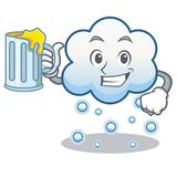 With juice snow cloud character cartoon Royalty Free Stock Photography