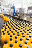 Juice and soda bottling factory royalty free stock image