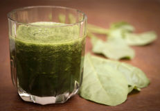 Juice of spinach Royalty Free Stock Photo